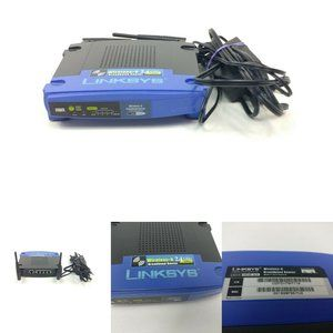 Linksys Broadband Router WRT54G 4 Ethernet Cable